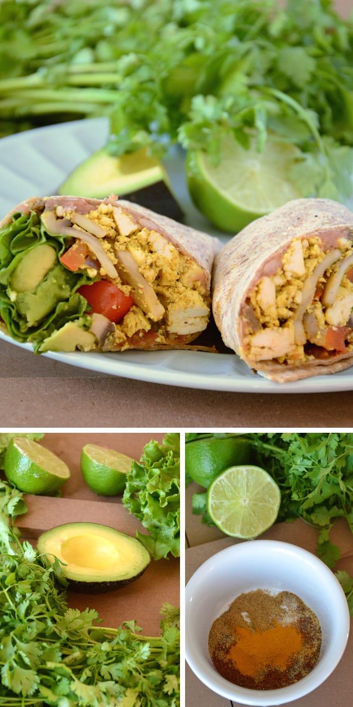 Healthy Fast Food Breakfast Burritos
